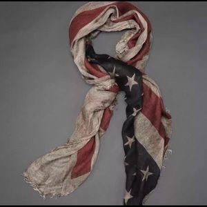John Varvatos Collection American flag scarf.